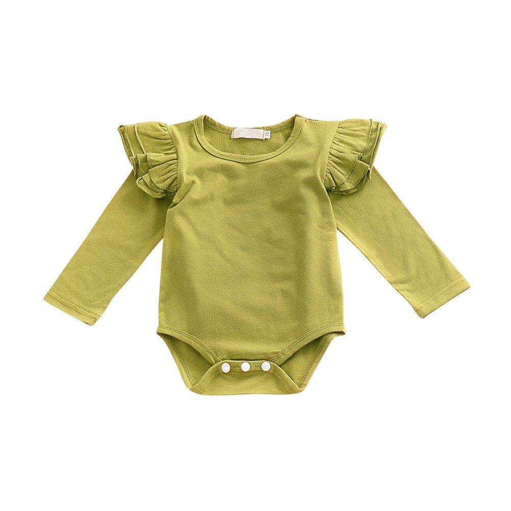 Langarm-Spielanzug Zerzauste Body One-Piece Overall Kleinkind Kleidung Set Brightup 2018 Baby M/ädchen Fr/ühling Sommer Outfits