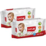 Luvlap Paraben Free Baby Wet Wipes with Aloe Vera (80 Wipes, Pack of 2, 160 Sheets)