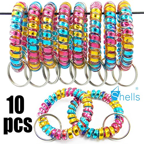 Cheap  Shells 10PCS Blue Yellow Pink Combination Color Soft Highly Spring Spiral Coil..