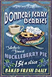 Bonners Ferry, Idaho - Huckleberry Pie Vintage Sign (16x24 Giclee Gallery Print, Wall Decor Travel Poster)