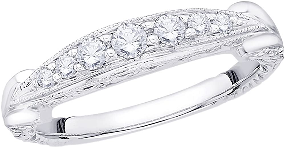 1//4 cttw, Size-6.25 G-H,I2-I3 Diamond Wedding Band in Sterling Silver