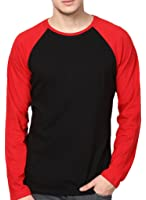 INKOVY Men's Raglan Neck Full Sleeve Cotton T-Shirt
