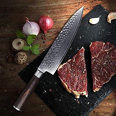 Compra YARENH Cuchillos de Cocina Profesionales 20cm ...