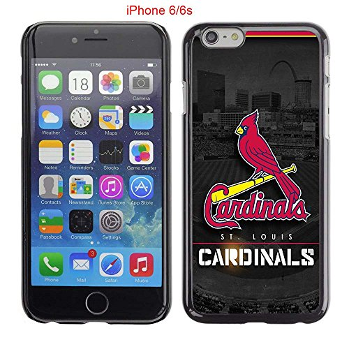 iPhone 6 Case, iPhone 6S Cases, STL Cardinals Logo 26 Drop Protection Never Fade Anti Slip Scratchproof Black Hard Plastic PC Case (Stl Cardinal Tickets compare prices)