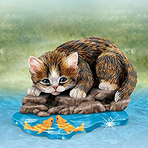 The Bradford Exchange Gone Fishin Purr-fect Adventure Figurine Collection By Jurgen Scholz