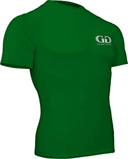 product image for HT-603S-CB Fitness Compression Fit, Short Sleeve Crew Neck Shirt-Track, Soccer, Football, Weight Training, Lacrosse-Sweat Transfer Technology (X-Large, Kelly Green)