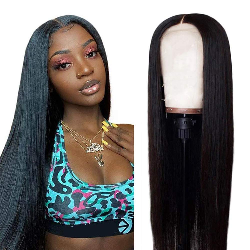 Lace Front Wigs Middle Part Human Hair Brazilian Hair Straight Human Hair Wigs For Black Women 13x4 Lace Frontal Wigs Pre Plucked Hairline With Baby Hair Fabeauty 10inch 13x4 Beauty Amazon Com