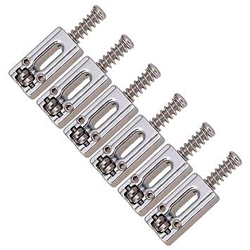 Sharplace 6 Piezas Selleta de Cuerdas de Puente Accesorios Repuesto para Guitarra Eléctrica - Guitar Bridge