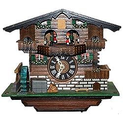 Authentic Swiss Cuckoo Clock Der Frohliche Wanderer Edelweiss