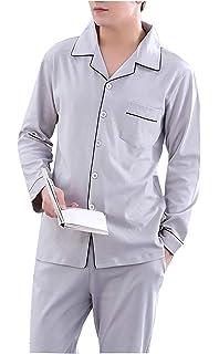 3a445c1cef Pajamas Men s Long Cotton Pajamas Set Loungewear Longsleeve Top Pajama  Lapel and Special Style Pajama Pants