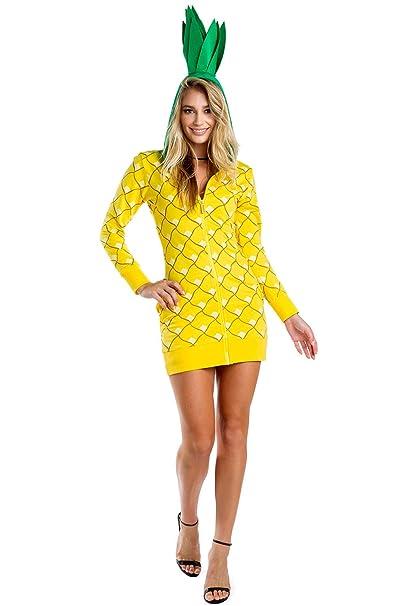 Tipsy Elves Women\u0027s Pineapple Costume Dress w/Pockets for Halloween ,  Pineapple Onesie for Women