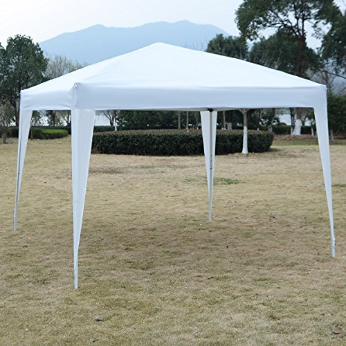 US PIEDLE 10 x 10ft Easy Pop up Canopy Tent Large Heavy Duty Tent Folding Instant Canopy Gazebo Wedding Party Commercial Outdoor Shelter (Heavy Duty Lightweight Instant Steel)