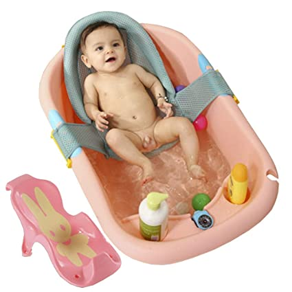 HMGY Bañera bebé pequeño bebé recién Nacido, baño Grande para niños ...