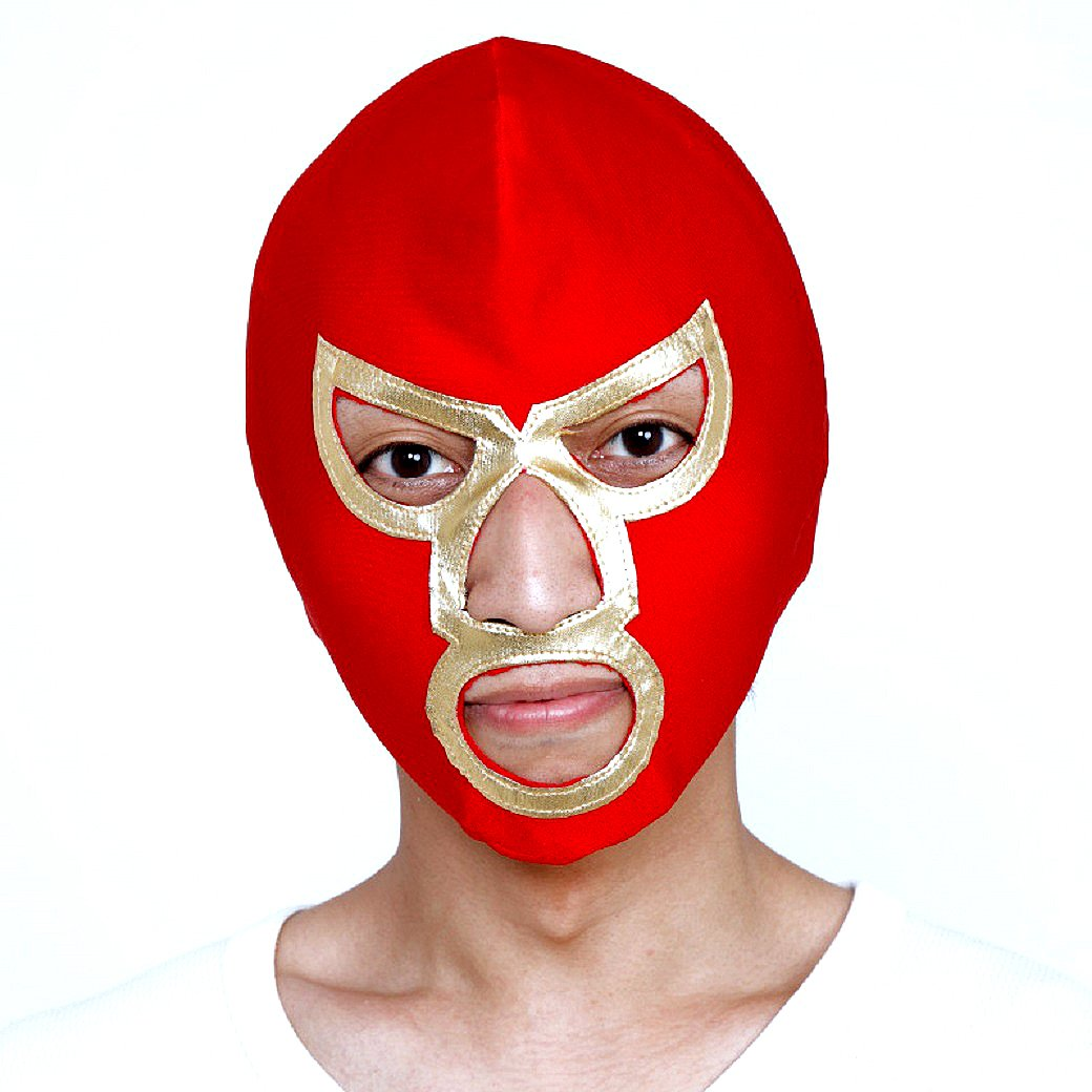 Patymo Pro Wrestling Mask - Choose from 7 Colors (Red/Gold)