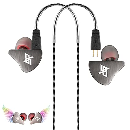 244e0b44783e41 Musician's In-Ear Monitors, Noise Isolating Over Ear Stereo Bass Headphones  with Detachable Cable