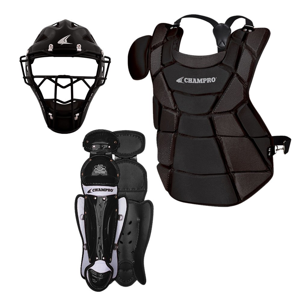 Champro Triple-Play Youth Catcher's Set, Black, 6 1/2''-7''/15.5'' by CHAMPRO