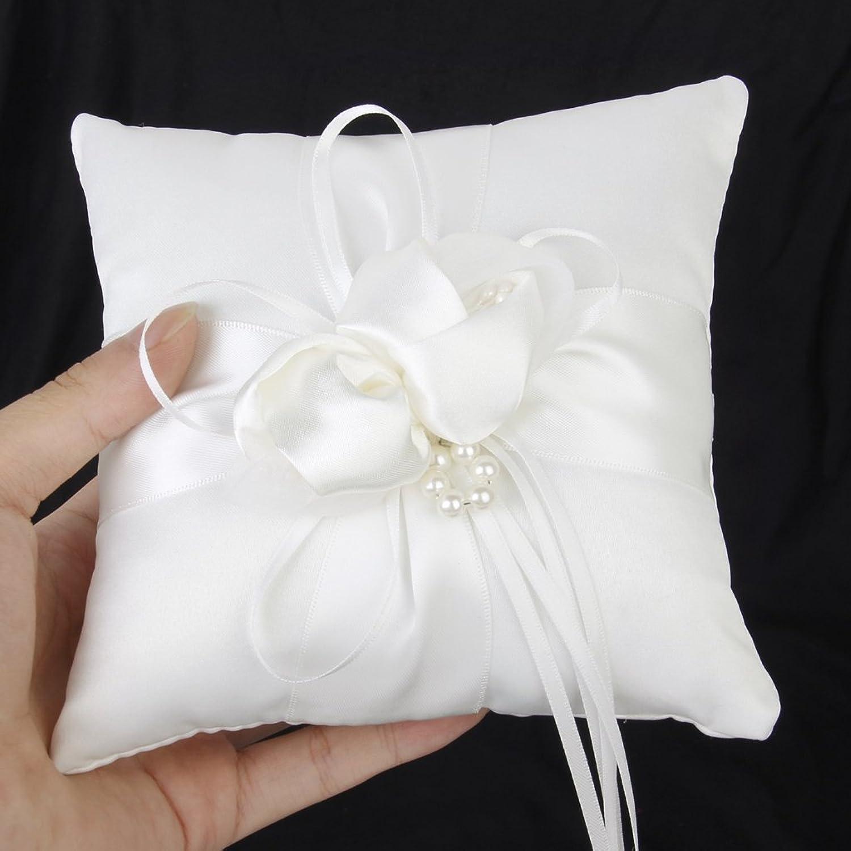 Lovely Bud Wedding Pocket Ring Pillow Cushion Bearer 15 x 15cm