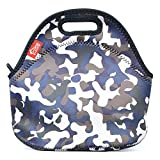 Neoprene Lunch Tote, Yookeehome Reusable Insulated Thermal Lunch Bag for Kids Adults Men Women Boys Girls Students Office Worker, Paisley