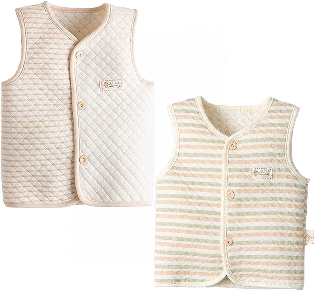 ThreeH Baby Vest Boys Girls Lightweight Warm Cotton Waistcoat