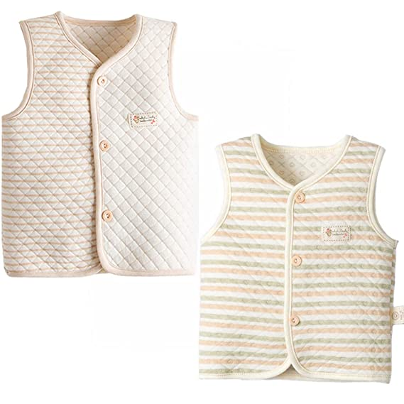 ThreeH Baby Vest Boys Girls Lightweight Warm Cotton Waistcoat