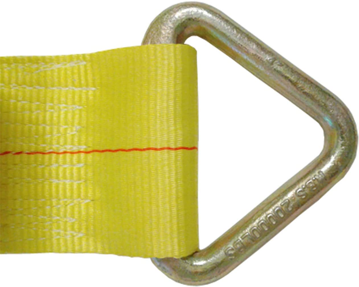 WLL: 5400 lbs Polyester Tie Down Color: Yellow Mega Cargo Control 4 x 30 Truck Winch Strap w//Delta Hook Trailer Flatbed Truck Tie 4 Safe 4-Pack
