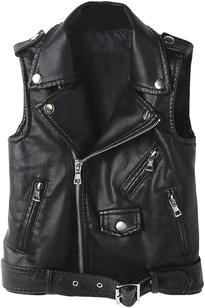 YoungSoul Chaleco de piel sintetico para Mujer - Cazadoras sin mangas de motorista - Chaquetas de imitación cuero
