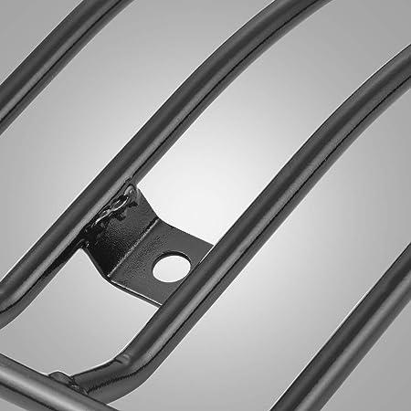 supporto portapacchi portapacchi posteriore adatto per parti modificate XL883//1200 X48 Argento EBTOOLS Portapacchi per moto