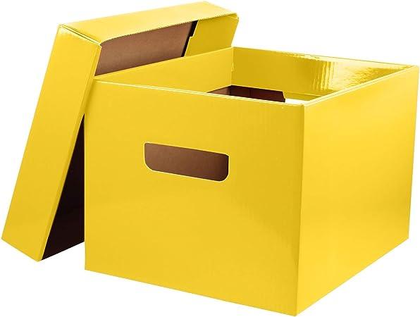 MCB - Caja de Almacenamiento ecológica para Oficina o Aula, (Paquete de 6): Amazon.es: Hogar