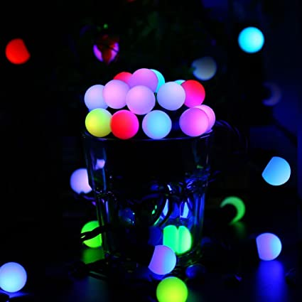 Christmas Decorations,50 LED 17.7ft RGB Globe Rapid changing Christmas  Lights, 7 Color - Amazon.com : Christmas Decorations, 50 LED 17.7ft RGB Globe Rapid