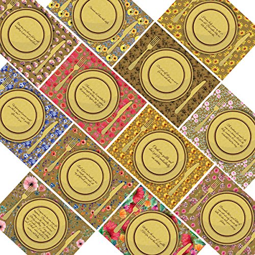 Hatinkaart - Paper Placemats - 24 Pack - - Asian Theme Paper Placemats