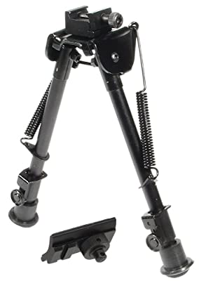 UTG Tactical OP Bipod, Rubber Feet, Center Height 8.3