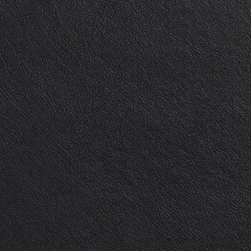 Onyx Black Fine Leather Grain Animal Hide Texture Vinyl U...