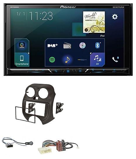 Pioneer Z500 0dab 2DIN DVD DAB Bluetooth USB MP3 Radio de coche para Nissan Micra (