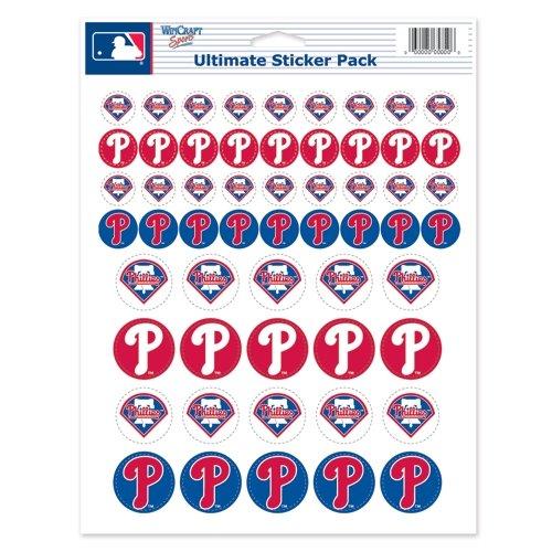 (Wincraft MLB Philadelphia Phillies Vinyl Sticker Sheet, 8.5