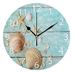 61lMZ33bYQL._SS247_ 100+ Beach Wall Clocks and Coastal Wall Clocks