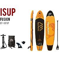 Aqua Marina 340-18FUS Fusion Tabla de Surf de Remo Inflable, Color Naranja, 10 pies