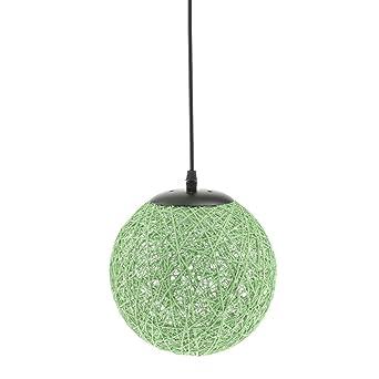 MagiDeal Landhaus Stil , E27 Rund Rattan Kugel Weidenkugel Decke  Lampenschirm Mit Kabel , Für Glühbirne