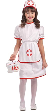 2d875ff41f6 Forever Young Childrens Girls Nurse Costume Halloween Fancy Dress Doctor  Nurse Hospital Outfit