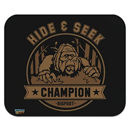 57552a77 Image Unavailable. Image not available for. Color: Hide and Seek Champion  Bigfoot Sasquatch Funny ...