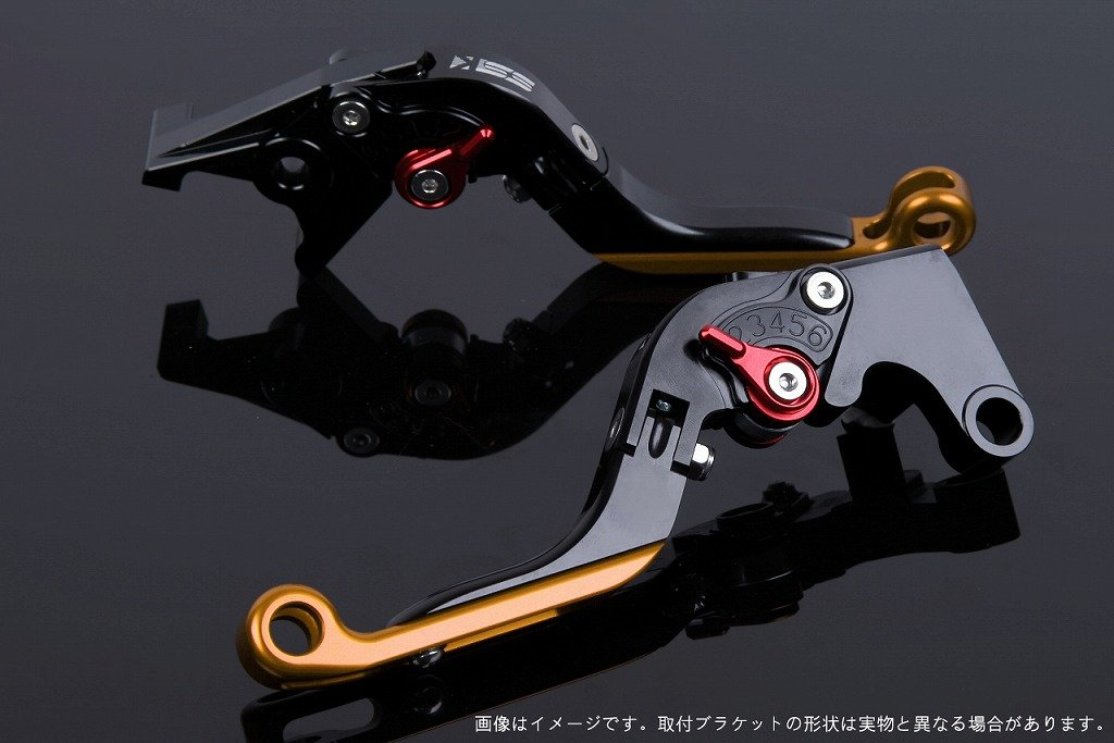 SSK アジャストレバー 可倒延長式 レバー本体カラー:ブラック アジャスターカラー:レッド エクステンションカラー:ゴールド CBR250RR MC51 2017-2018 HO0407060-RDGD B07MX86CCH