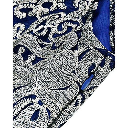cocktail vita a alta donna s da con lunga tulle gonna da xl abito blue sottile in ricamo pizzo in vintage T7vx5qnP
