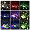Multicolor Sky Moon Star Projector Light 360 Degree Rotation, Number-One LED Romantic Room Projection Lamp, Night Lighting Lamp, 4 Replaceable Films for Different Theme, Best for Baby and Kids Bedroom