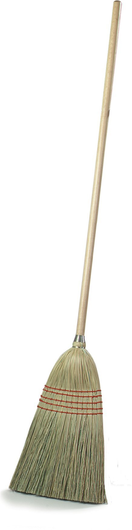 Carlisle 4135200 Flo-Pac Corn Blend Corn Parlor Broom Straw with Wood Handle, 55'' Length (Case of 12)