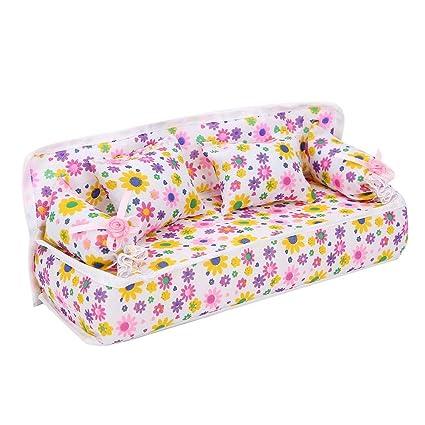 Amazon.com: Mootea - Sofá de casa de muñecas, adorable mini ...
