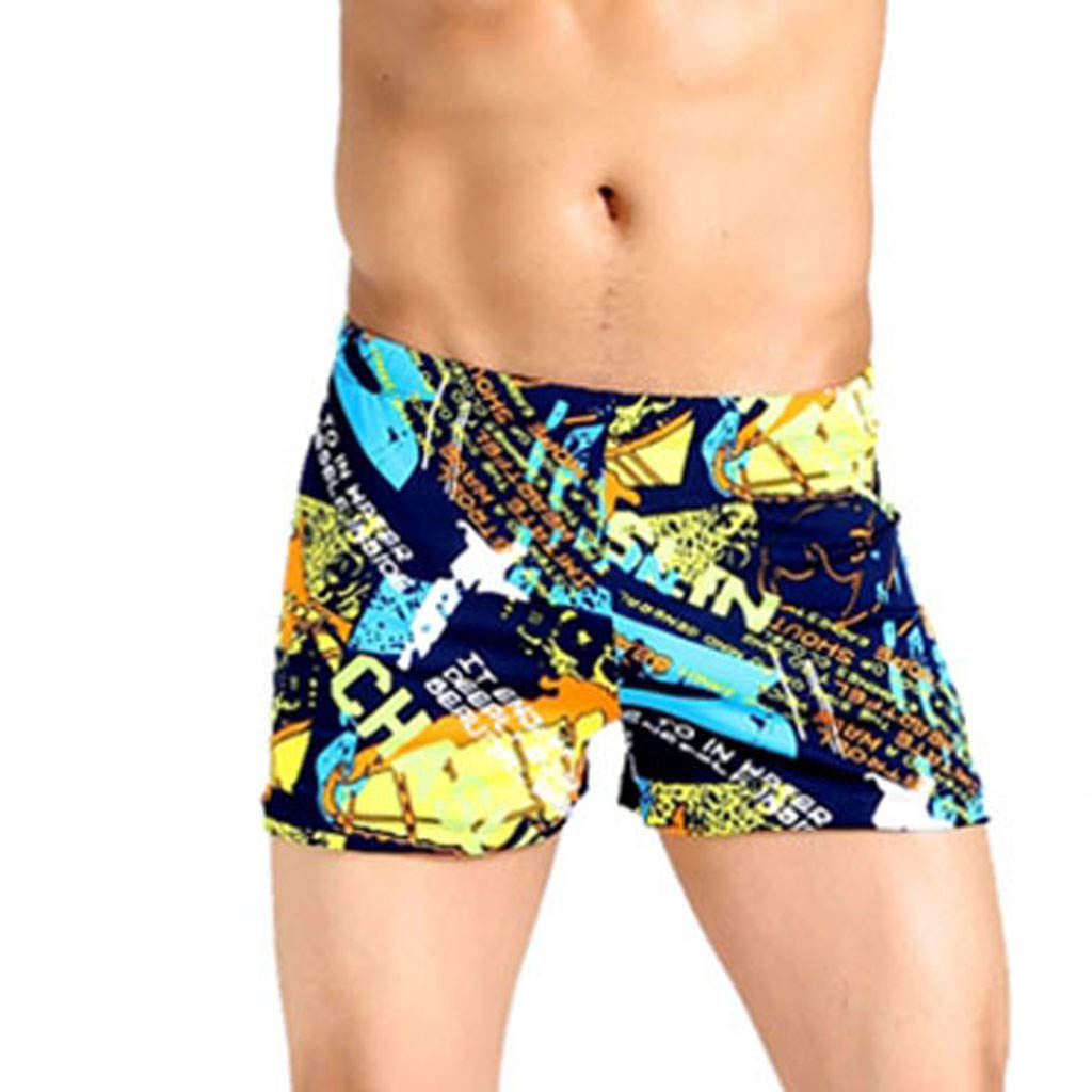 NUWFOR Men's Shorts Swim Trunks Quick Dry Beach SurfingPrintRunning Swimming Watershort(Multicolor,XXL Waist:30.7'')