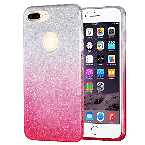 iPhone 7 Plus Case, NOKEA iPhone 7 Plus [Extremely Sparkly] Makeup Series Back Cover Shinning Protective Bumper Bling Luxury Glitter Cute Premium Case for 5.5 inches iPhone 7 Plus (Gradient (Cute Girl Cartoon Characters)