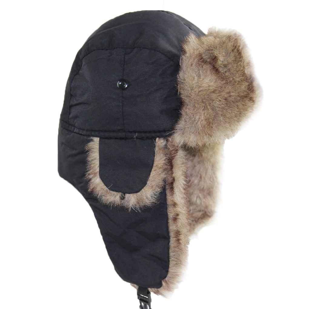 Bobury Hombres Mujeres Bomber Sombreros Gorras Niñas Trampa Sombrero Impermeable A Prueba de Viento Sombreros Earflap Deporte al Aire Libre Sombrero de Esquí Gorro de Nieve