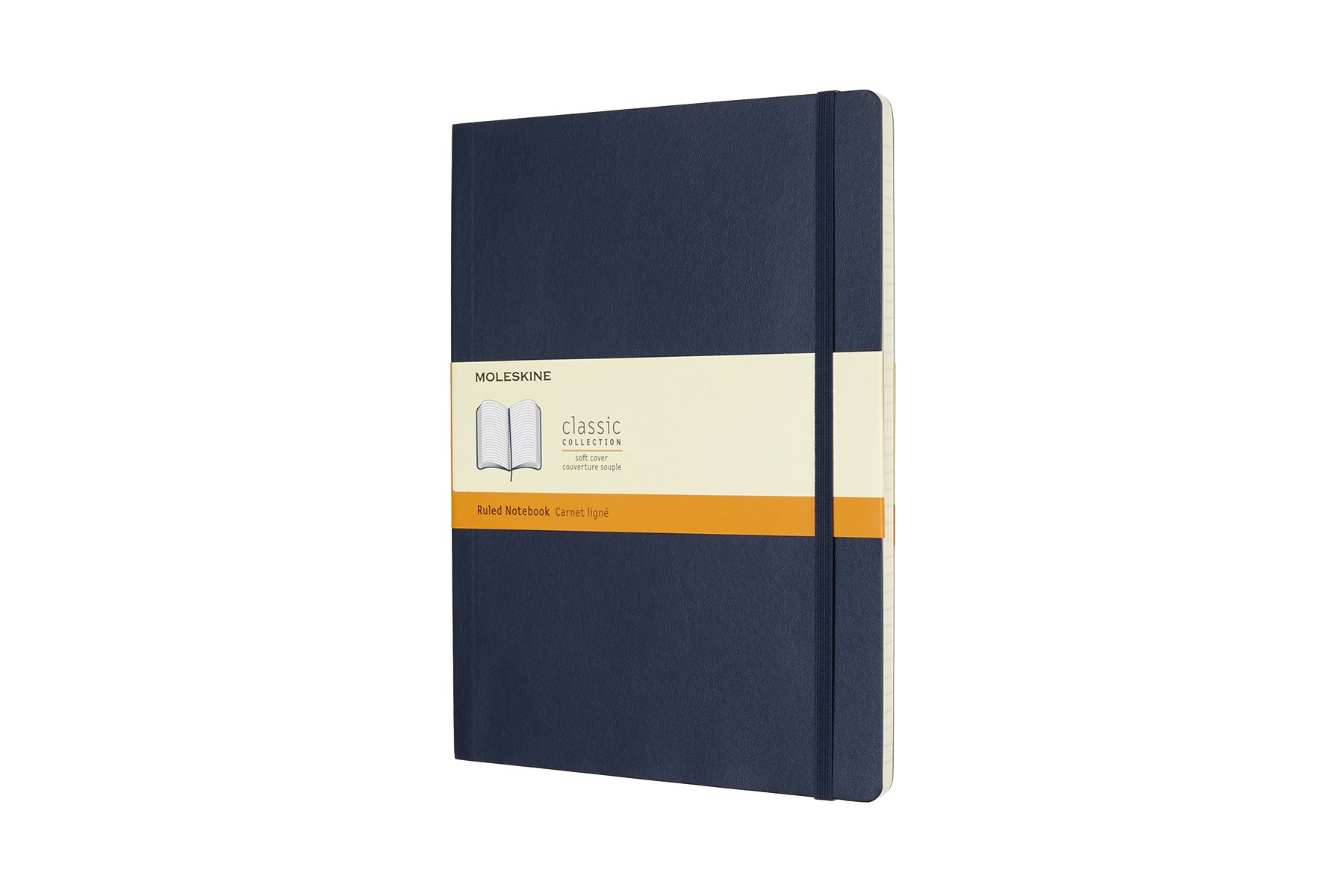 Moleskine Classic Soft Cover Notebook, Ruled, XL (7.5 ()