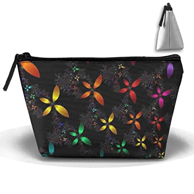 Abstract Rainbow Butterflies Pattern Portable Pouch Waterproof Trapezoidal Storage Bag