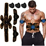 ABS Stimulator Muscle Toner, Rechargeable EMS Abdomen Muscle Trainer With 6 Modes 10 Levels, Muscle Toner Toning Belt For Men Women, Office, Home Gym